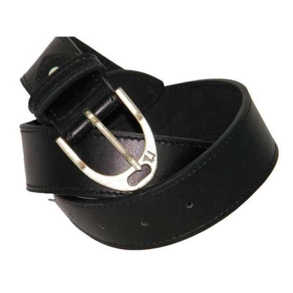 ceinture en cuir pour cadeau cavalier par un artisan français