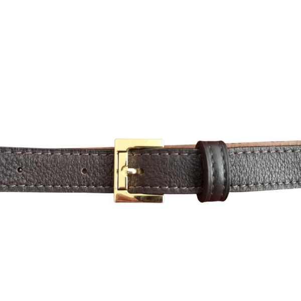 ceinture femme en cuir marron fabrication artisanale