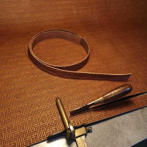 découpe de ceinture artisanale