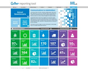 Gather reporting dashboard home page