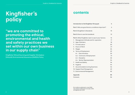 Kingfisher Asia Factories Handbook, English version sample pages
