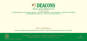 Deacons Stationery Complimentary slip
