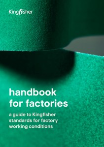 Kingfisher Asia Handbook for factories front cover, English version