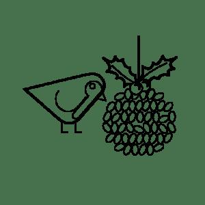 Kingfisher communication Christmas Robin icon
