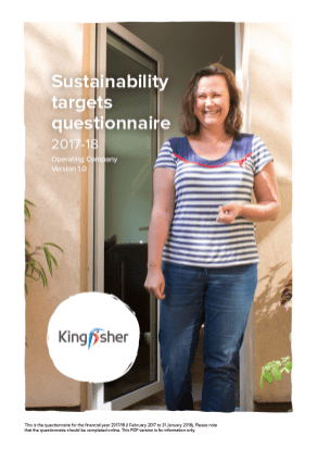 Sustainability Targets questionnaire 2017-18