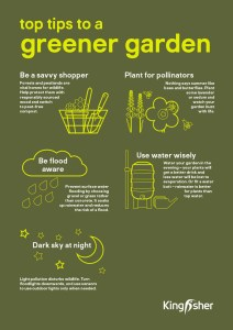 Kingfisher Sustainable Top Tips Garden A4 poster 2