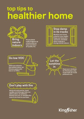 Kingfisher Sustainable Top Tips Healthier home A4 poster 1