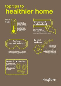 Kingfisher Sustainable Top Tips Healthier home A4 poster 2