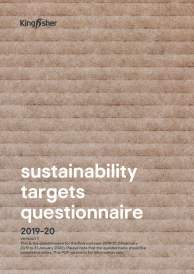 Kingfisher Sustainability Targets questionnaire 2019