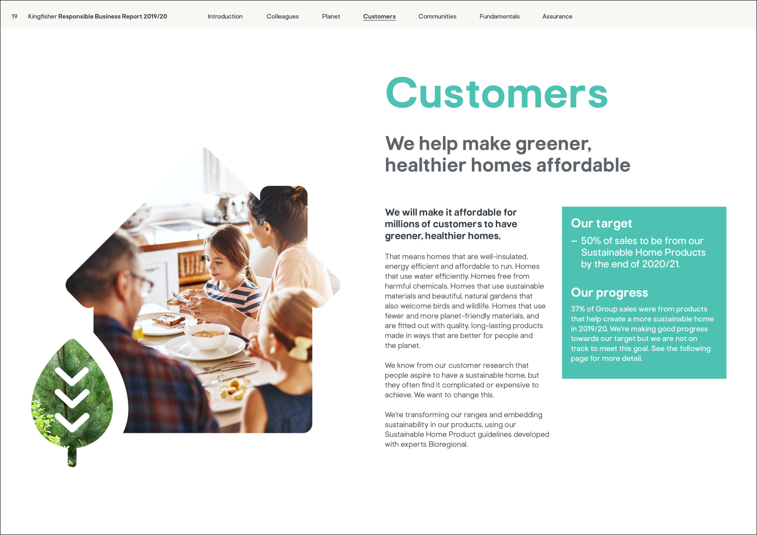 Kingfisher Responsible Business report 2019/20 page 19
