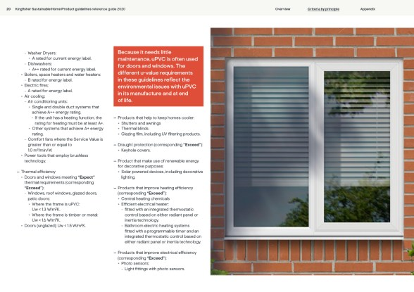 Kingfisher Sustainable Home Products guidelines 2020