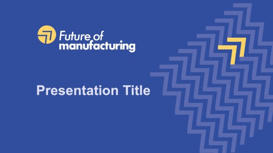 Future of manufacturing template for PowerPoint