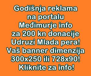 Godišnja reklama na portalu Međimurje info za 200 kn donacije Udruzi Mlada pera