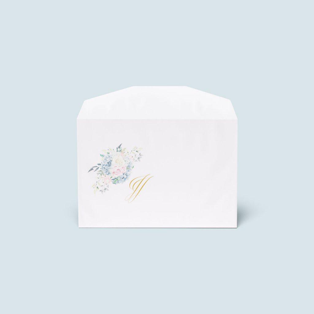 biela obálka s potlačou zadarmo k oznameniam