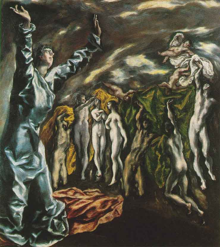 The opening of the fifth seal of the Apocalypse, by El Greco