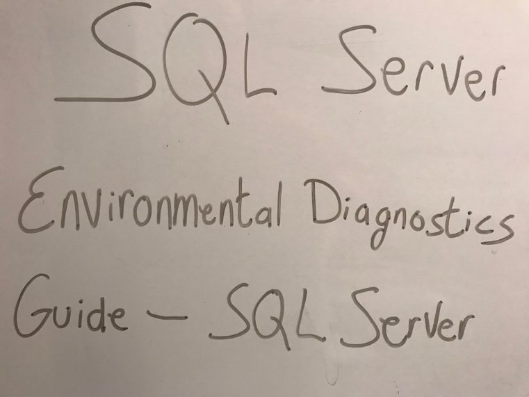 SQL Server Environmental Diagnostics Guide