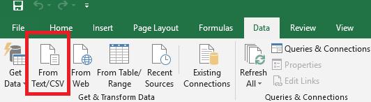 Excel data import