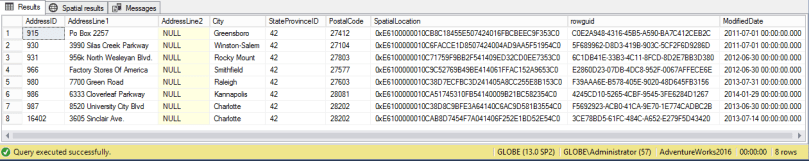 selecting from Address_NC table