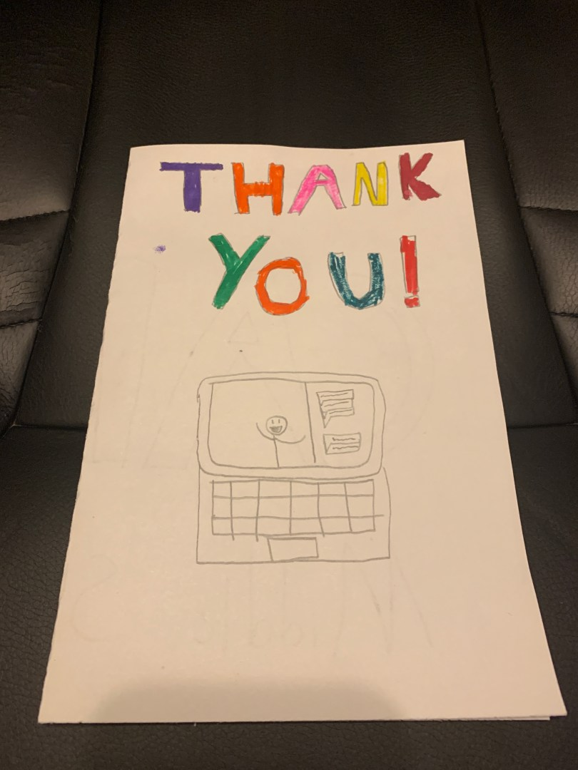Hour of Code thank you card