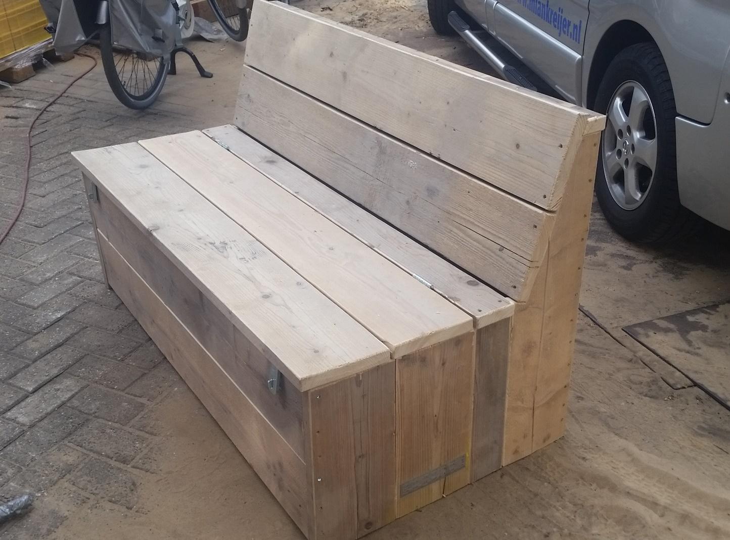 Bankje steigerhout zonder leuning