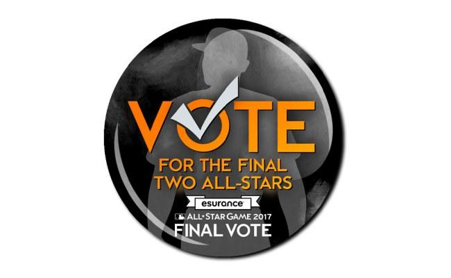 Final Vote All Star Ballot Mlb