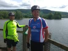 Steve and Tim at Llangors Lake.