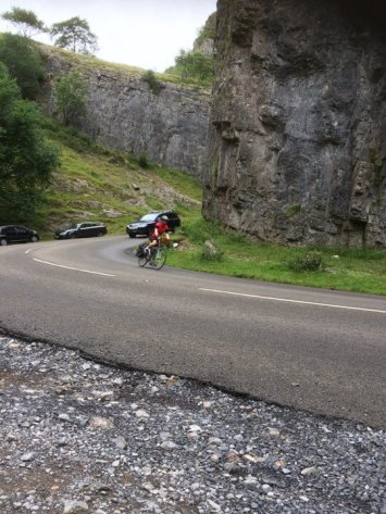 Coming down Cheddar Gorge.