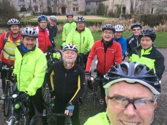 New Year's Eve Ride 2017. Great Chalfield Manor.
