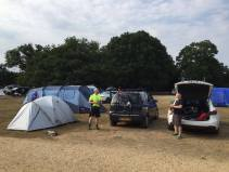 The guys set up camp at Ashurst.