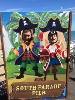 Captain Jack Sparrow and Captain Pugwash.