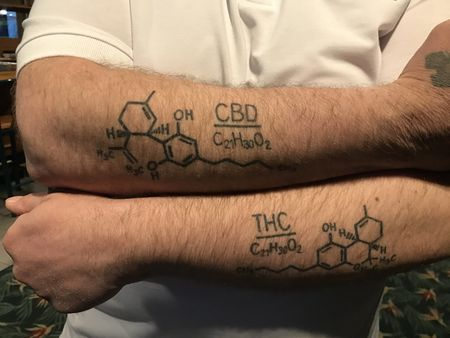 Michael E. Thue THC CBD tattoos