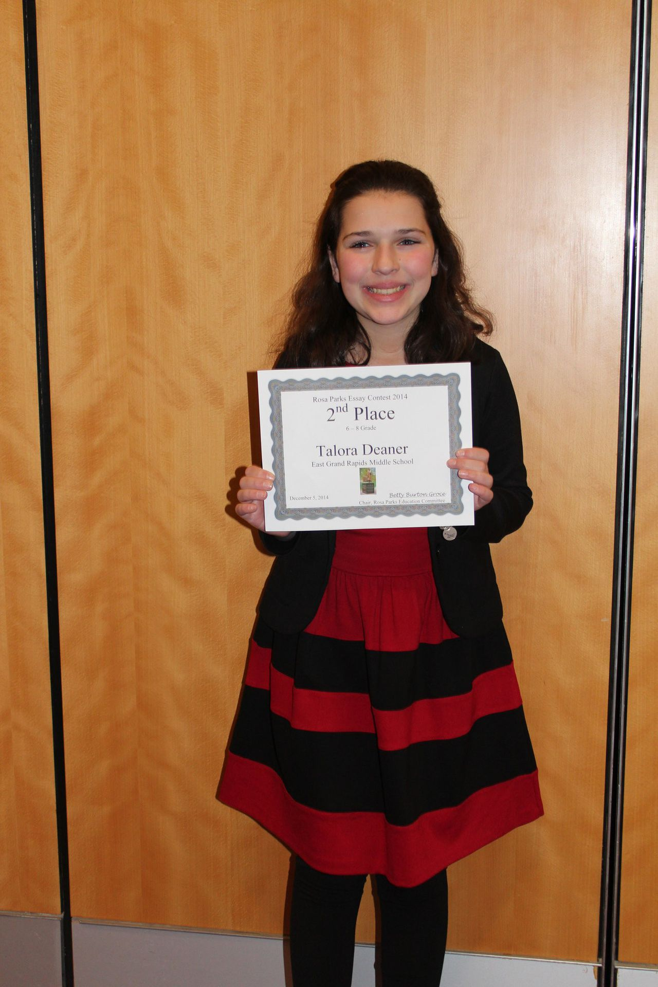 East Grand Rapids Middle School Student A Winner In Rosa