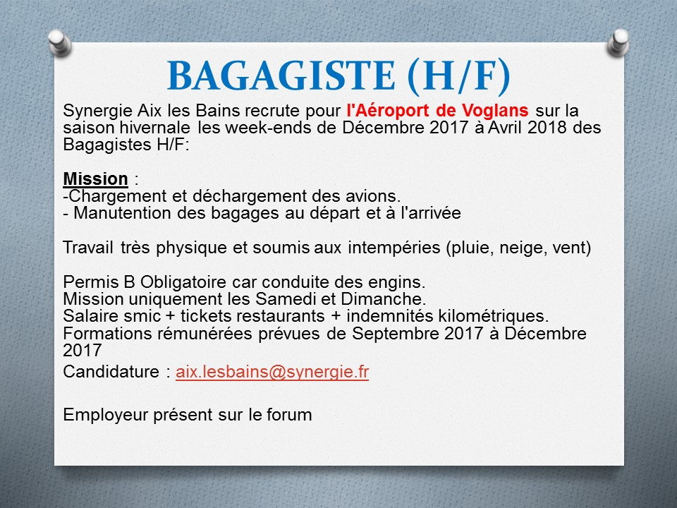 exemple cv bagagiste aeroport