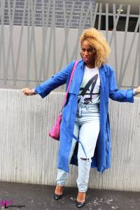 Trench bleu MONKI