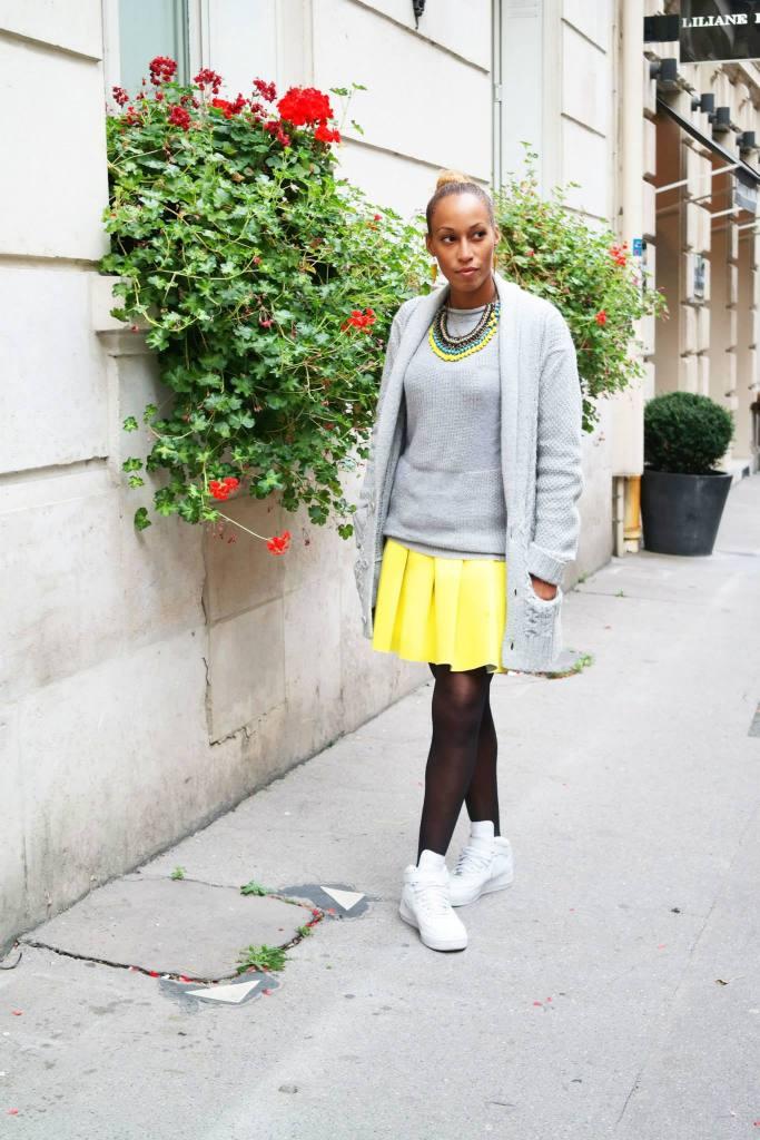 La jupe néoprène jaune 1