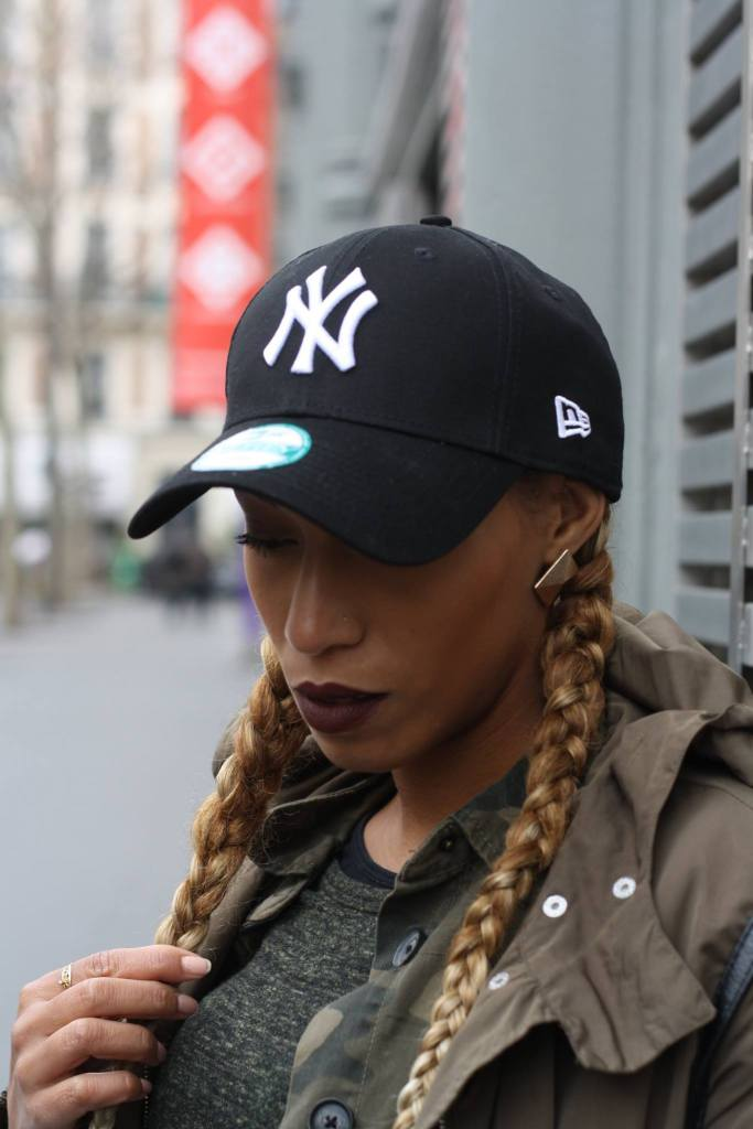 casquette New york look kaki