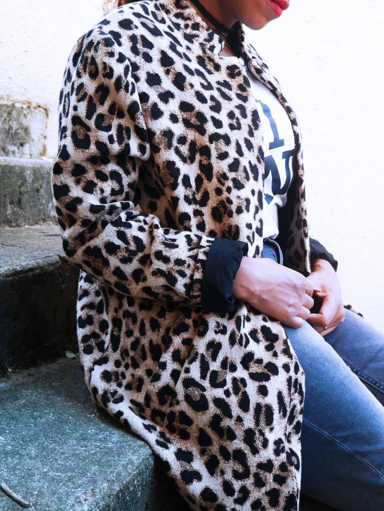 veste leopard h&m