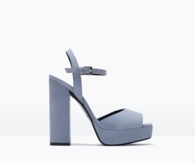 Sandale à plateforme talon large 59,90€