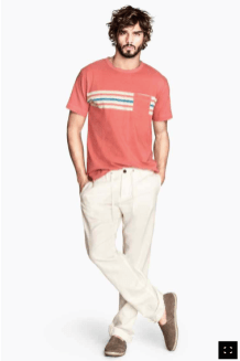 Pantalon lin noué 19,90€ H&M