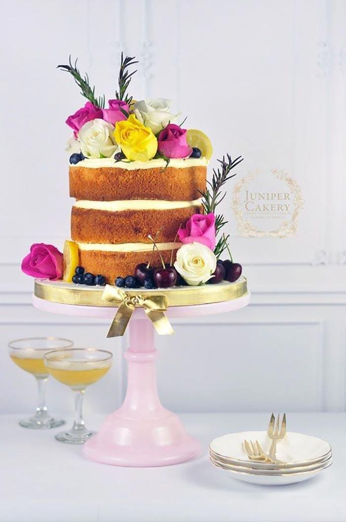wedding cake fleuri