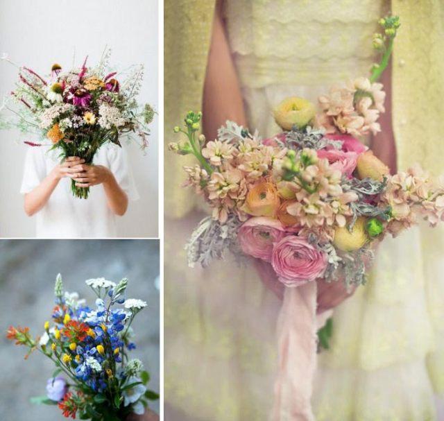Bouquets de mariées sauvages