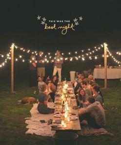 Se marier sous les étoiles