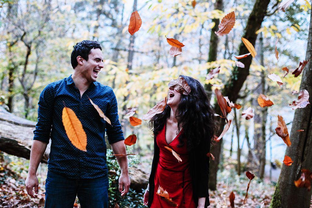 photos d'amoureux en automne