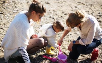 3 générations à la plage * Pornic *