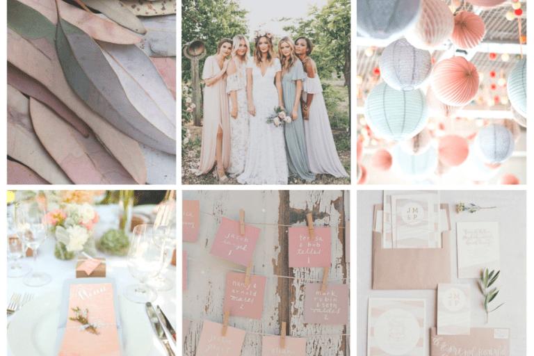 décoration de mariage pastel