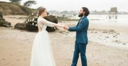 mariage à la plage en hiver