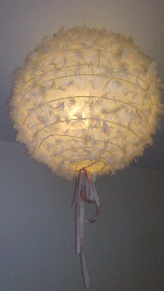 Boule japonaise plumes mlle pois - Lampe boule japonaise ...