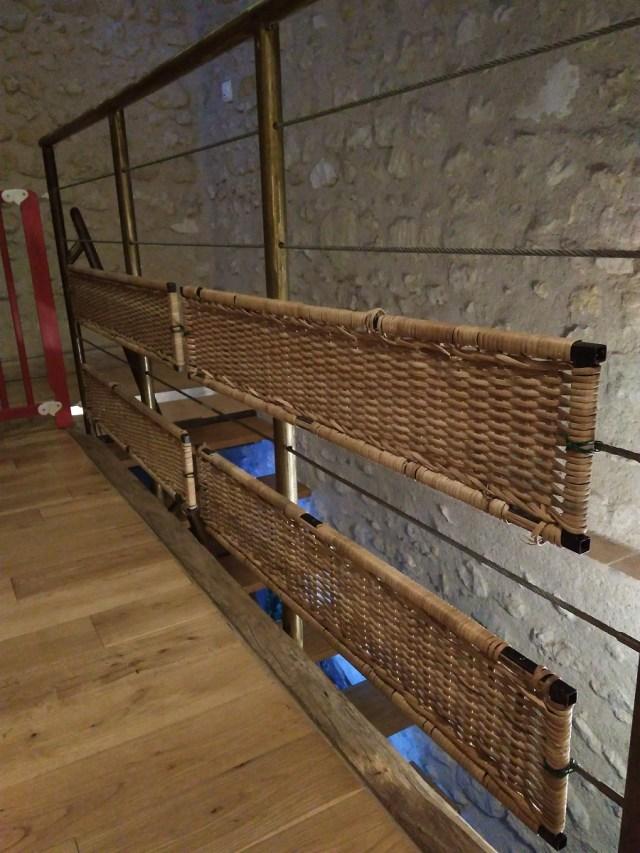 Une barrière de sécurité escalier fait maison