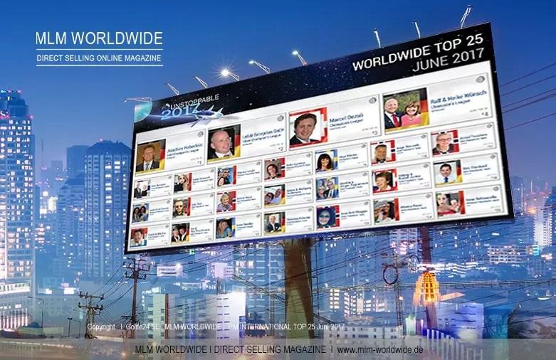 PM International veröffentlicht TOP 25 WORLDWIDE für Juni 2017