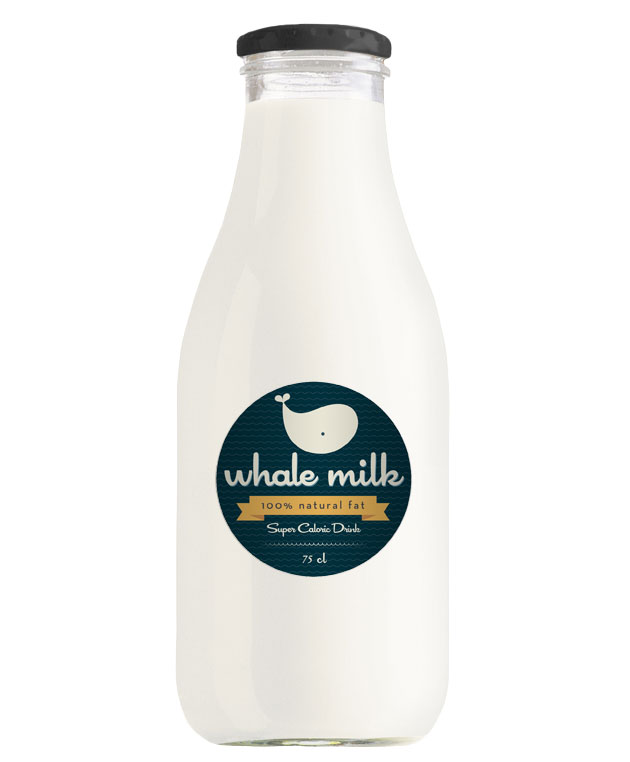 Packaging Leche, Whale Milk by Alessio Sabbadini
